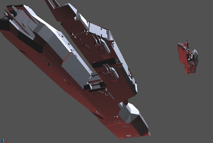 DMV battlecruiser and destroyer frontunder