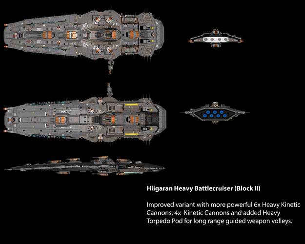 Hiigaran Heavy Battlecruiser (Block II)