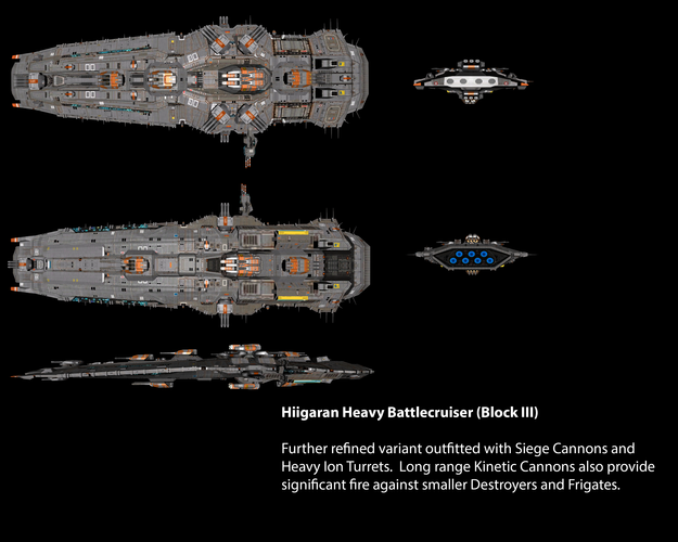 Hiigaran Heavy Battlecruiser (Block III)