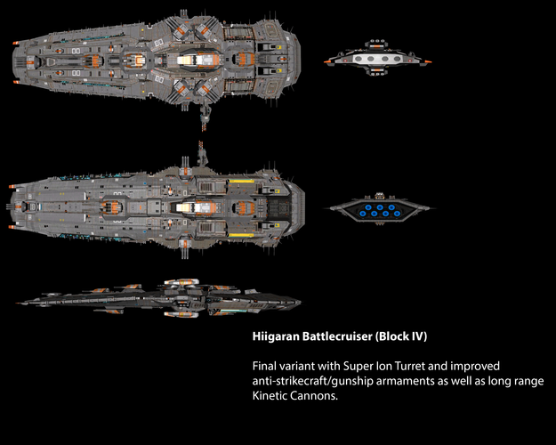 Hiigaran Heavy Battlecruiser (Block IV)