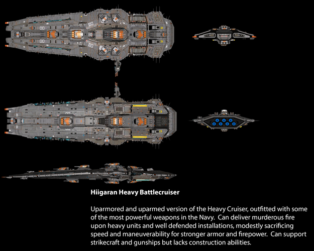Hiigaran Heavy Battlecruiser