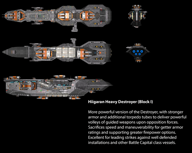 Hiigaran Heavy Destroyer (Block I)