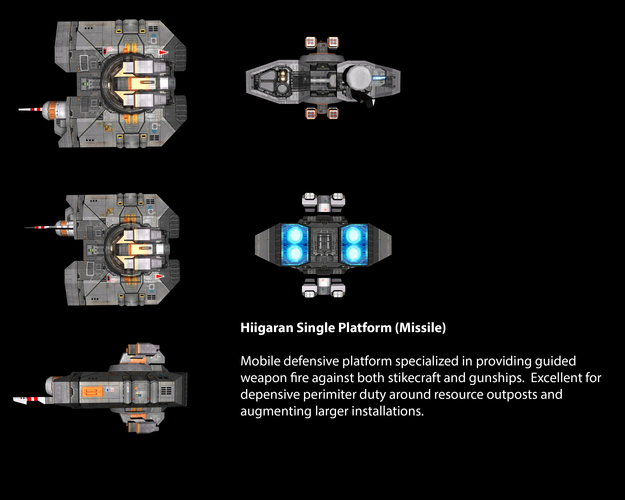 Hiigaran Single Platform (Missile)