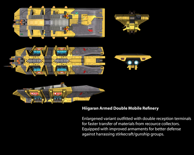 Hiigaran Armed Double Mobile Refinery
