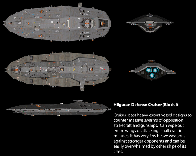 Hiigaran Defense Cruiser (Block I)