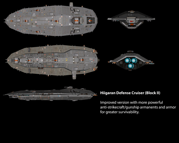 Hiigaran Defense Cruiser (Block II)