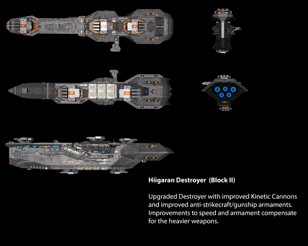 Hiigaran Destroyer (Block II)
